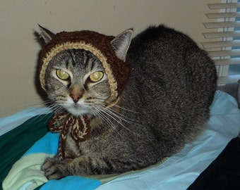 Pattern: Cat Hat with Pom Pom ~ Dog Hat