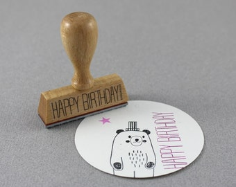 Stamp Happy Birthday- Typo 6 Happy Birthday