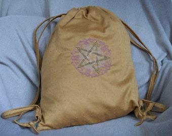Emboidered Pentagram Backpack