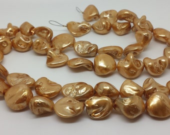Gold Freshwater Pearls, full strand