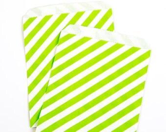 Green Diagonal Treat Bags