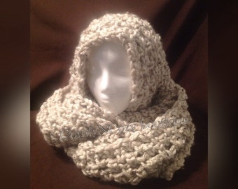 Thick and chunky crocheted soft infinity scarf