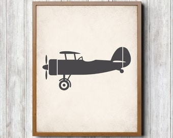 Old Airplane Printable 8 x 10