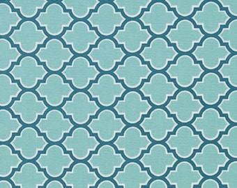 Aqua Lattice Fabric from Joel Dewberry's True Colors Collection by Free Spirit