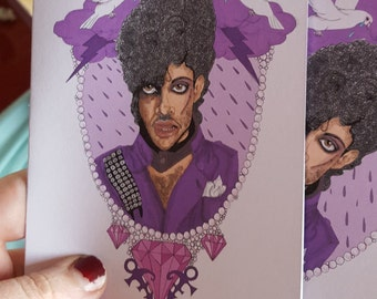 Prince Purple rain A6 Card