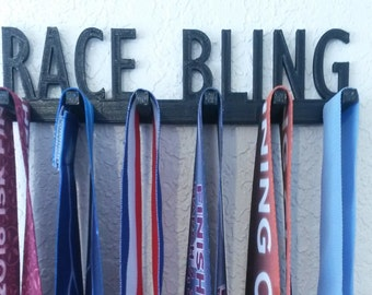 Race Bling Running Marathon Sports Medal Display Medal Rack Medal Holder Running Medal Hanger
