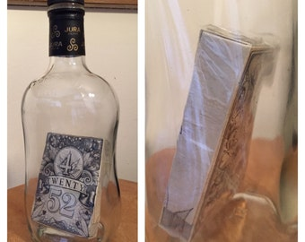 Playing Cards in Cellophane - Nothing is Impossible - one of a kind - weird stuff - glass bottles - unique presents - magic
