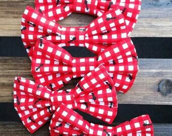 Picnic ants bow tie hair clip headband
