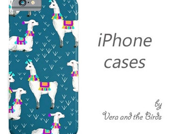 Llama pattern iPhone case, iPhone 6 case, iPhone 5 case, iPhone 4 case, illustrated cases,  iPhone 6 plus, iphone alpaca, iphone llama
