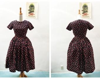 "Dorothy Dress // ""Poppy Fields"" by Vera Bradley in a Red and Black Poppy Print"