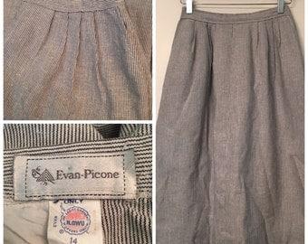 Vintage Evan Picone Striped Skirt