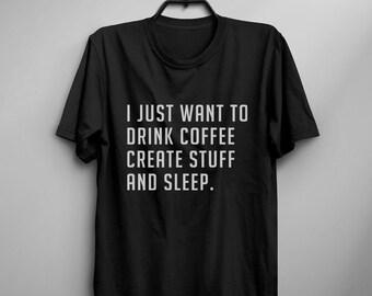 Coffee gift funny tshirt Tumblr Tee Shirts for teens gift clothes instagram Graphic Tee Womens TShirts
