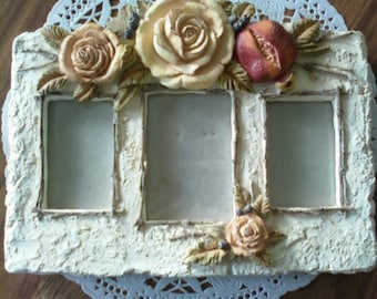 Resin Floral Picture Frame