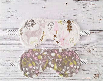 Sleep Mask - Stocking Stuffer - Woodland - Gifts Under 30 - Gifts for Women - Gifts for Kids - Christmas Gift - Stocking Stuffer