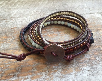 Addie Beaded Wrap Bracelet