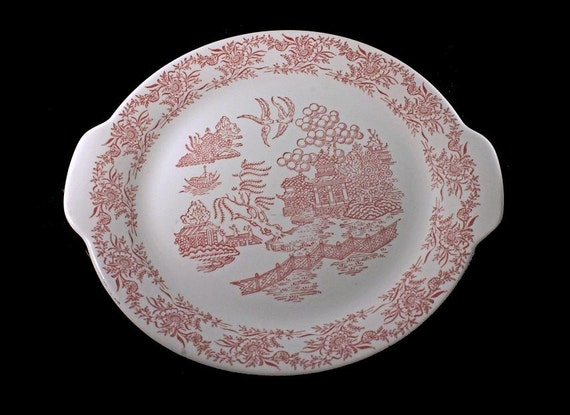 Red Willow Platter, Hamilton Ross, Ming Red