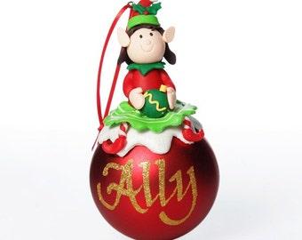 Red Girl Elf Christmas Character