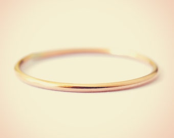 14K Yellow Gold Plain Midi Fashion Ring/ Midi Ring/ Knuckle Ring/ Stacking Ring/ Upper Finger Ring/ Gift for her