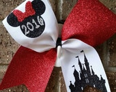 Disney Cheer bow. Cheer bow. Worlds or Summit 2016. Bow. Cheer.