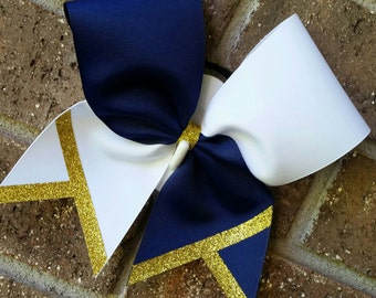 Cheer bow custom tick tock - choice of colors