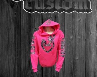 Pink country love hoodie