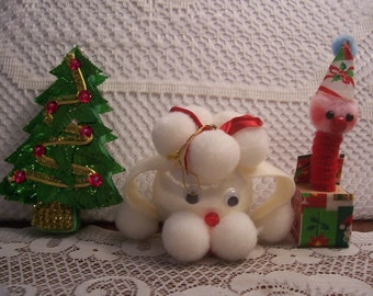 Three Assorted Christmas Ornaments