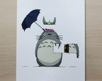 Totoro Dissection Illustration