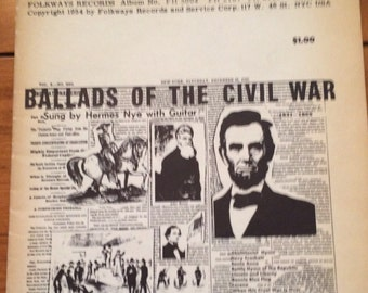 Ballads of the Civil War Liner Notes