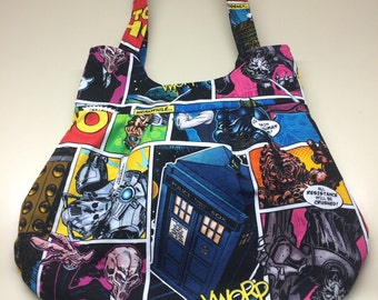 Time Traveling Dr. Who inspired handbag/purse