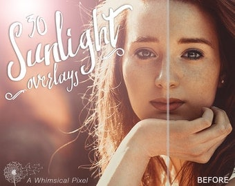 30 Lens Flare Overlays | Instant Download | Sunlight Overlays | Photoshop Editing