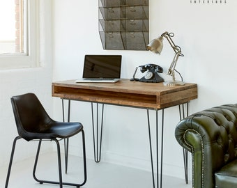 Industrial Rustic Reclaimed Wood - Plank Top Desk - 120x60cm