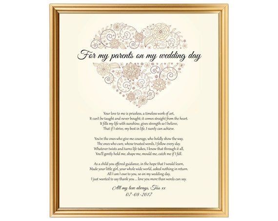 Gifts To Give Parents On Wedding Day: Gift Personalized To Parents On Wedding Day Thank You For