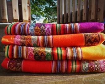 Inca Pattern Textile Blanket