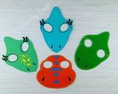 Dinosaur Masks  Dress up Celebration Birthday Party Halloween Favor Masks  READY TO SHIP  Childrens Fancy Dress Up Costume