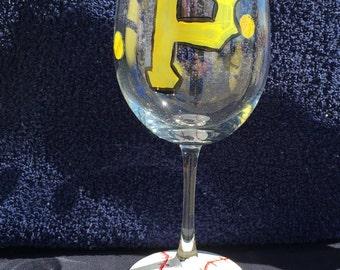 Pittsburgh Pirates wine glass