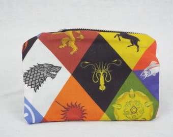 Game of thrones house sigil coin purse with zip