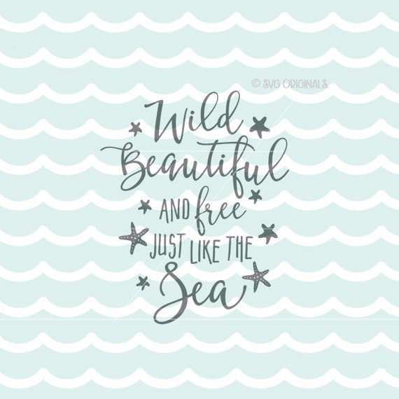 Download Beach SVG Wild Beautiful and Free SVG Vector File. Cricut