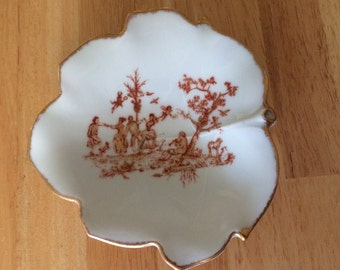 Vintage GDA Limoges France Serving Dish. Pre 1970s. Pastoral Pattern.
