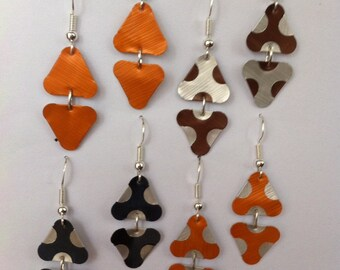 Handmade: Triangle earrings made with coffee pods