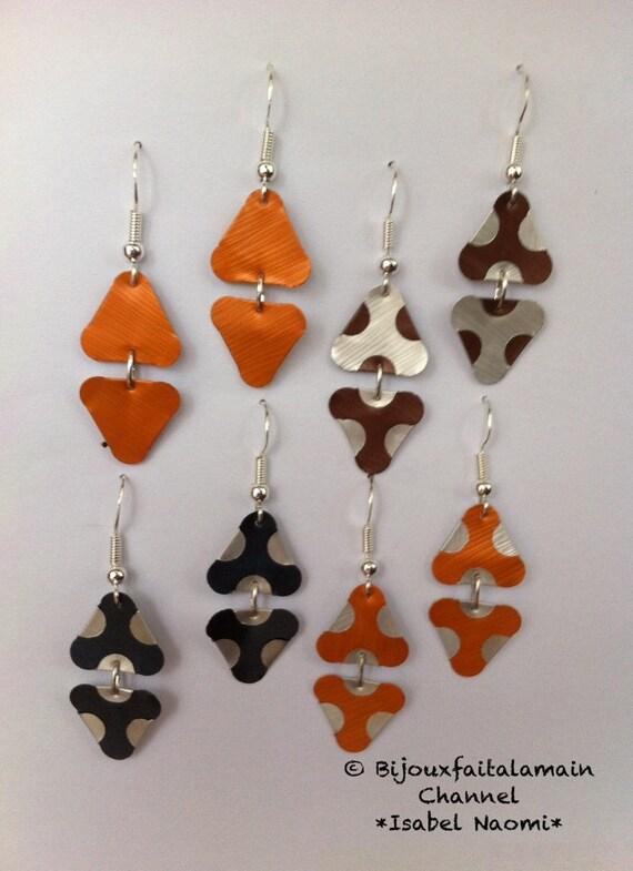 Articles similaires boucles d 39 oreilles capsules triangle fait main s - Comment vider les capsules nespresso ...