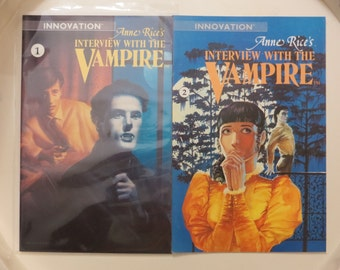 ANNE RICE Interview With The VAMPIRE 1 2 Lot Innovation Comics Horror Monster Vampire Goth