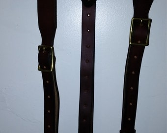 leather steampunk suspenders