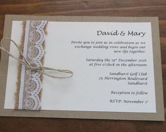 Rustic Invitation Set