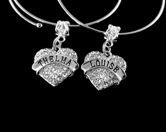 Thelma and Louise bracelets set 2 bracelets Thelma bracelets Louise bracelets Best friends BFF  Besties