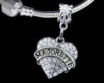 Majorette charm fits European style bracelet and necklace Majorette gift Majorette jewelry
