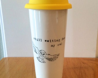 Harry Potter Waiting For My Owl ceramic travel mug