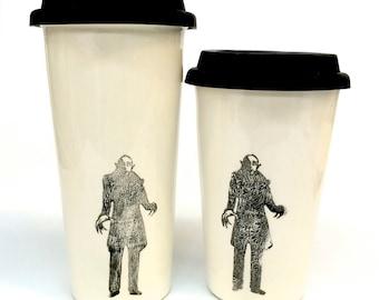 Nosferatu Vampire Vintage Horror Film Ceramic travel mug to go two sizes