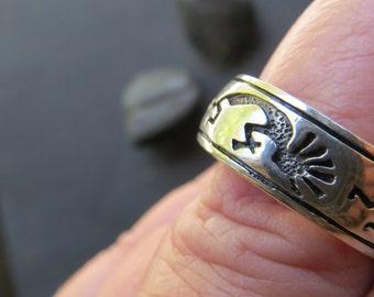 Southwest Vintage Sterling Silver 925 Ring Size 10 1/4