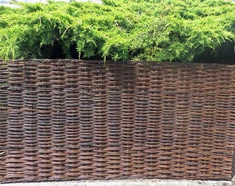 Willow woven hurdle fence panel, 6'W x 3'H, WWP-63