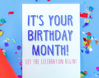 Birthday Month Card